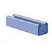 Unistrut P1000-10PG Solid Channel; 12 Gauge, 10 ft x 1-5/8 Inch x 1-5/8 Inch, Steel, Pre-Galvanized