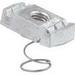 Unistrut P4008EG Short Channel Nut With Spring; 3/8-16, Mild Steel, Electrogalvanized