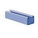 Unistrut P1000-10HG Solid Channel; 12 Gauge, 10 ft x 1-5/8 Inch x 1-5/8 Inch, Steel, Hot-Dipped Galvanized
