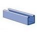 Unistrut P1000 10GR Solid Channel; 12 Gauge, 10 ft x 1-5/8 Inch x 1-5/8 Inch, Steel, Perma-Green® III