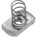 Unistrut P1010EG Channel Nut With Spring; 1/2-13, Mild Steel, Electrogalvanized