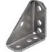 Unistrut P2484EG 7-Hole 90 Degree Gusseted Angular Fitting; Steel, Electrogalvanized