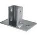 Unistrut P2941EG Post Base; Steel, Electrogalvanized