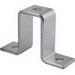Unistrut P1737EG 3-Hole U-Shape Fitting; Steel, Electrogalvanized