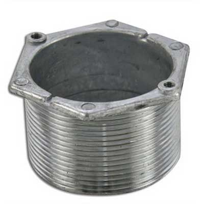 Wiremold / Walker 1124L-11/4 525 & Multiplex Series Locking Nipple 1-1/4 Inch  1 Inch Length  Aluminum