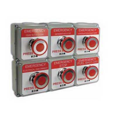 Eaton / Cutler Hammer 10250T5B62-S101 Pushbutton Control Station; Push-Pull, 1 NO/1 NC, ASA 61 Gray Enclosure