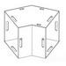 Wiegmann L080845 Wireway Elbow; NEMA/EEMAC 1, Polyester Powder Coat ANSI 61 Gray