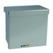 Wiegmann RSC181808 Enclosure; 18 Inch Width x 8 Inch Depth x 18 Inch Height, 16 Gauge Carbon Steel, ANSI 61 Gray, Wall Mount, Screwed Slip-On Reversible Cover