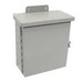 Wiegmann RHC121206 Enclosure; 12 Inch Width x 6.130 Inch Depth x 12.060 Inch Height, 16 Gauge Carbon Steel, ANSI 61 Gray, Wall Mount, Hinged Cover