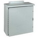 Wiegmann RHC242408 Enclosure; 24 Inch Width x 8 Inch Depth x 24 Inch Height, 14 Gauge Carbon Steel, ANSI 61 Gray, Wall Mount, Hinged Cover