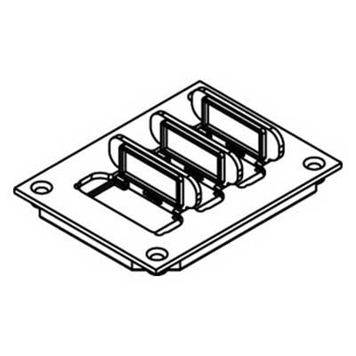 Wiremold / Walker 829PFL-BLK Ratchet-Pro™ Non-Metallic Communication Cover Plate; Polycarbonate