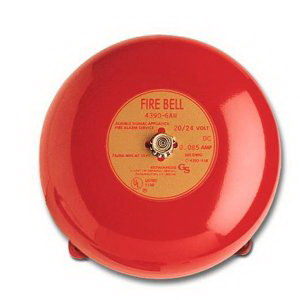 """""Edwards 438D-8N5-R 430D Series Vibrating Fire Alarm Bell 8 Inch, 120 Volt AC, 95 DB At 1 m, 85 DB At 10 ft, Red,"""""" 115986"
