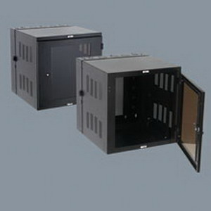 Cooper B-Line VLWM2425PB V-Line Dual Hinge Wall Mount Cabinet With Plexiglas Door; 24 Inch Width x 25 Inch Depth x 24 Inch Height, 16 Gauge Cold Rolled Steel, Black
