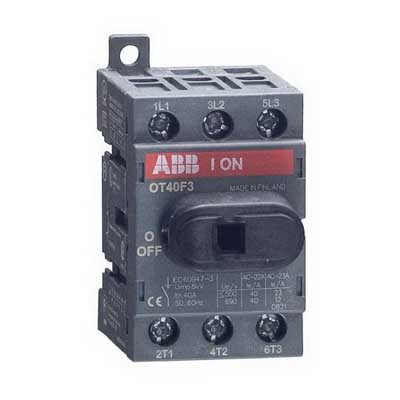 ABB OT40F3 Non-Fusible Disconnect Switch; 40 Amp, 600 Volt, 3 Pole