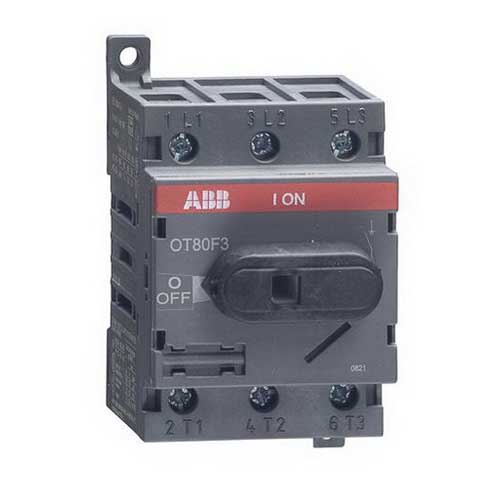 ABB OT80F3 Non-Fusible Disconnect Switch; 80 Amp, 600 Volt, 3 Pole