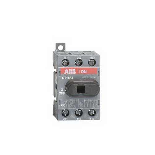 ABB OT16F3 Non-Fusible Disconnect Switch; 16 Amp, 600 Volt, 3 Pole