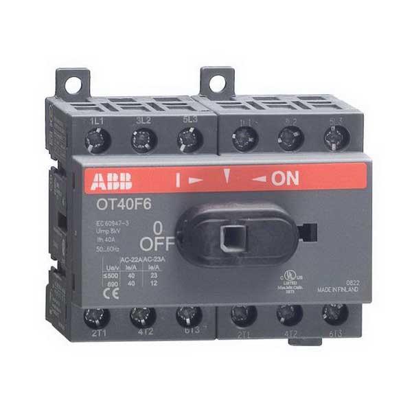 ABB OT40F6 Non-Fusible Disconnect Switch; 40 Amp, 600 Volt, 6 Pole