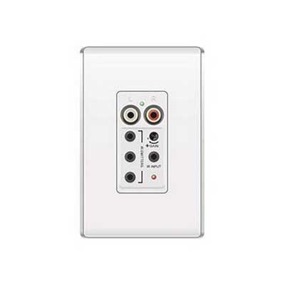 On-Q AU1004-WH lyriQ™ Flush Mount Single Source Input; In-Wall Mount, White