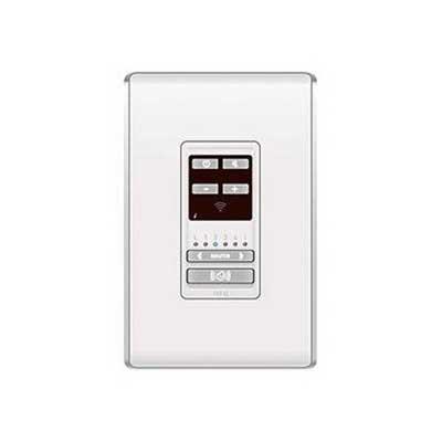 On-Q AU5009-WH lyriQ™ Audio Keypad in Studio Design; 24 Volt DC, 14-28 AWG Terminal Block Connection, Wall Mount, ABS Plastic, White