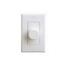 On-Q AU0100-WHDM-V1 In-Wall Speaker Volume Control; Terminal Block Connection, In-Wall/1-Gang Box Mount, Plastic, White/Almond