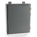 Ebox Enclosures 24248N12 Single Door Electrical Enclosure; 24 Inch Width x 8 Inch Depth x 24 Inch Height, 14 Gauge Galvanized Steel, ANSI 61 Gray, Wall Mount, Hinged Cover
