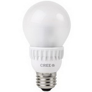 Cree A19-60W-27K-T24 LED Lamp; 9.5 Watt, 120 Volt, 2700K, 80 CRI, Medium (E26) Base, 25000 Hour Life, Tray of 24
