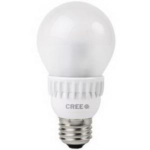 Cree A19-60W-50K-T24 LED Lamp; 9.5 Watt, 120 Volt, 5000K, 80 CRI, Medium (E26) Base, 25000 Hour Life