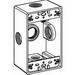 Orbit 1B50-5X 1-Gang Weatherproof Outlet Box; Die-Cast Aluminum, Gray, 18.3 Cubic-Inch