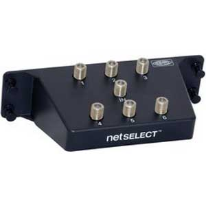 Hubbell Wiring NSOVM62G NETSELECT® 6-Way Coax Splitter Module; Plastic, Black, Powder-Coated