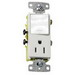 Hubbell Wiring tradeSELECT® RCD108W Decorator Quiet Rocker Switch/Device; 1-Pole, 2-Position, 15 Amp, 120/125 Volt, White