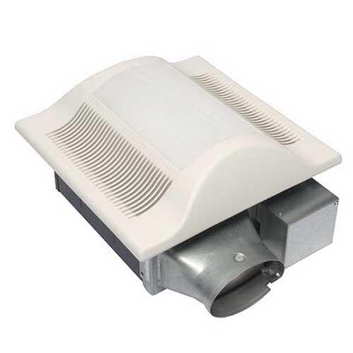 Panasonic FV-10VSL3 WhisperValueLite™ Bath Ventilation Fan With Light; 30.3 Watt, Heater, 120 Volt, 0.26 Amp, 100 cfm, 1.5 Sones, Ceiling Mount