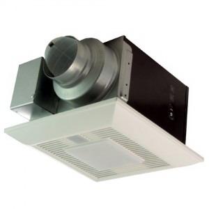 Panasonic FV-08VQCL6 WhisperSense™ Bath Fan With Light; 17.5 Watt, Heater, 120 Volt, 0.15 Amp, 80 cfm, 0.3 Sones, Ceiling Mount