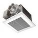 Panasonic FV-11VQ5 WhisperCeiling Mount™ Ventilation Fan; 21.1/20.7 Watt, 120 Volt, 0.18/0.17 Amp, 110/91 cfm, 0.3/0.5 Sones, Ceiling Mount