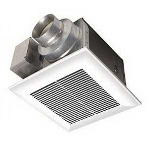 Panasonic FV-08VQ5 WhisperCeiling Mount™ Low Profile Ventilation Fan; 14.7/14.5 Watt, 80/65 cfm, Ceiling Mount