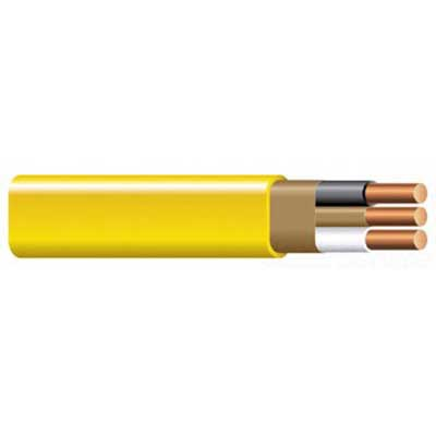 Copper Building Wire 4 Conductors 12 AWG Copper Non-Metallic Sheathed Cable With Grounding