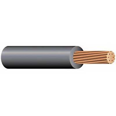 Copper Building Wire 10 AWG Solid Copper XHHW Cable; Black, 500 ft Coil