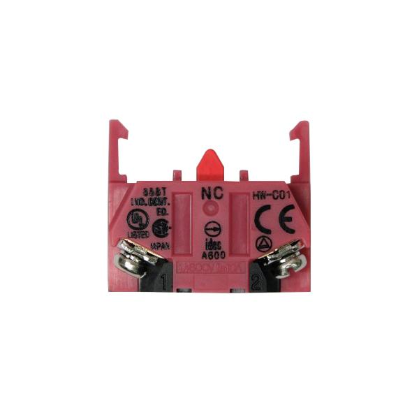 Idec HW-C01 Contact Block; 10 Amp, 440 Volt AC/220 Volt DC, Screw Connection