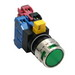 Idec HW4L-MF2F11QD-G-120V Illuminated Pushbutton With Shroud; Momentary, 120 Volt AC, NO/NC, 22 mm Mounting Hole