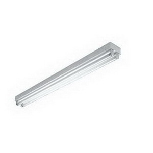 H.E. Williams 76-4-254T5H-EB2*AD-BD-UNV 2-Light Standard Strip Light; 108 Watt, 120 - 277 Volt, Surface/Suspended Mount, 22 Gauge Die-Formed Steel, White
