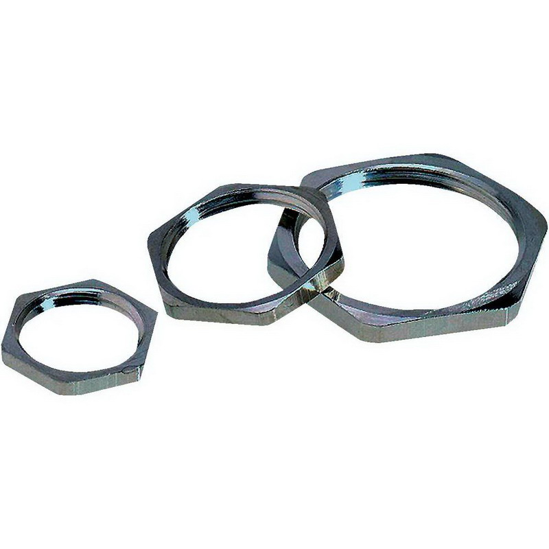 Lapp 52003490 SM Locknut PG7- Brass- Nickel Plated-