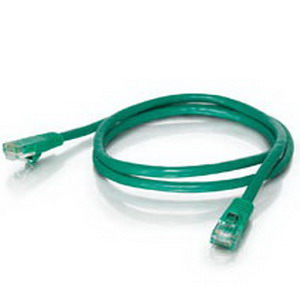 Quiktron 576-120-010 Value Series Category 6 Patch Cord; 10 ft, 24 AWG, Green
