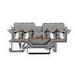Wago 280-621 Terminal Block; 15/20/24 Amp, 300/600/800 Volt, TS 35 Rail Mount, Gray
