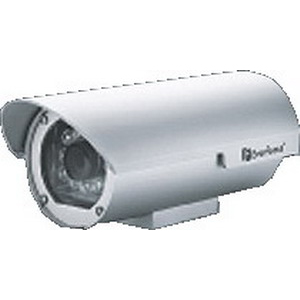 Everfocus Electronics EZ235/N16 Long Range IR Outdoor Camera; 24 Volt AC, 460 Milli-Amp IR On, 100 Milli-Amp IR Off, 16 mm, 380 TV Lines For Horizontal Resolution