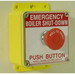 Pilla BSD120 Emergency Pushbutton Operator Station; 120 Volt AC, 24 Volt DC, Pull To Reset Legend
