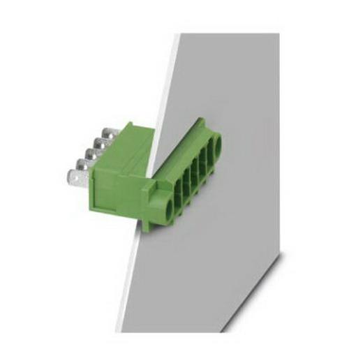 Phoenix Contact Phoenix 1861196 DFK-PC 4/ 6-G-7.62-FS4.8 Base Strip; 400/800 Volt, 15 Amp Nominal, 6 Position, Green,