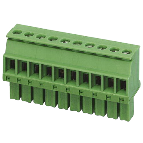 Phoenix 1827208 MCVR 1 5/10-ST-3 81 Printed-Circuit Board Connector; 8 Amp Nominal, 160/320 Volt, M2 Screwed Connection, Green