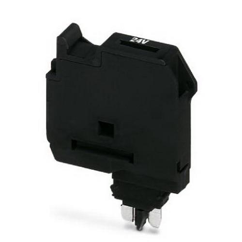 Phoenix 3036835 P-FU 5X20 LA 250 Fuse Plug With LED; 250 Volt, 6.3 Amp Maximum Load, Polyamide, Black