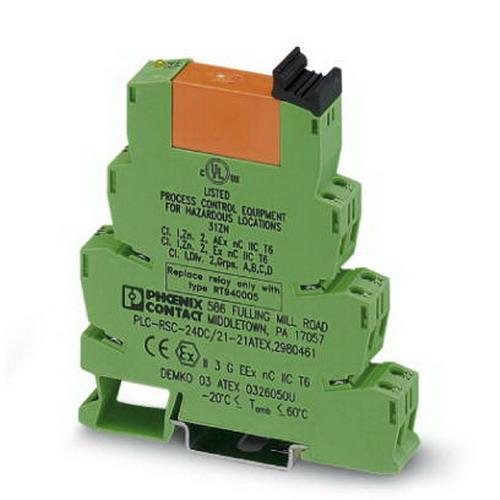 Phoenix Contact Phoenix 2980461 Relay Module; 18 Milli-Amp, 24 Volt DC Coil