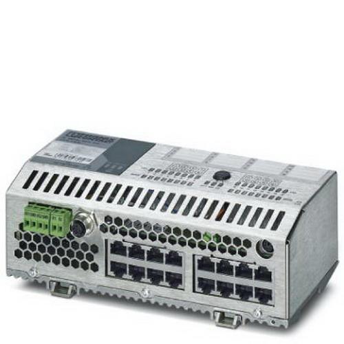 Phoenix 2700996 Industrial Grade Ethernet Switch; 24 Volt DC, 190 Milli-Amp, 16-Port, 10/100 Mbps