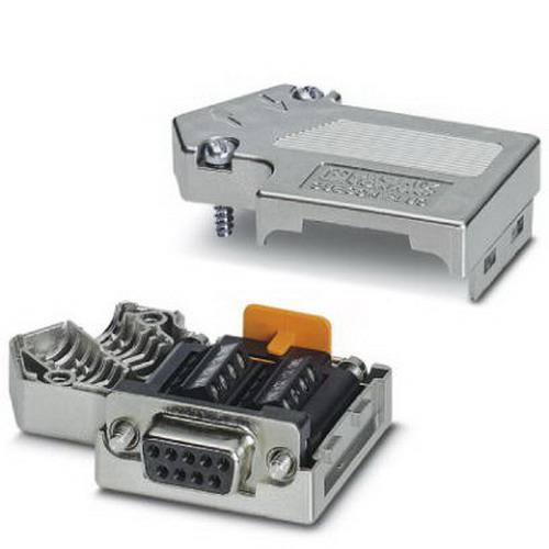 Phoenix 2708999 D-Sub Bus Connector; 100 Milli-Amp, 5 Volt, Metal Plated ABS Housing, 9 Positions